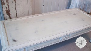 shabby chic coffee table via Prodigal Pieces