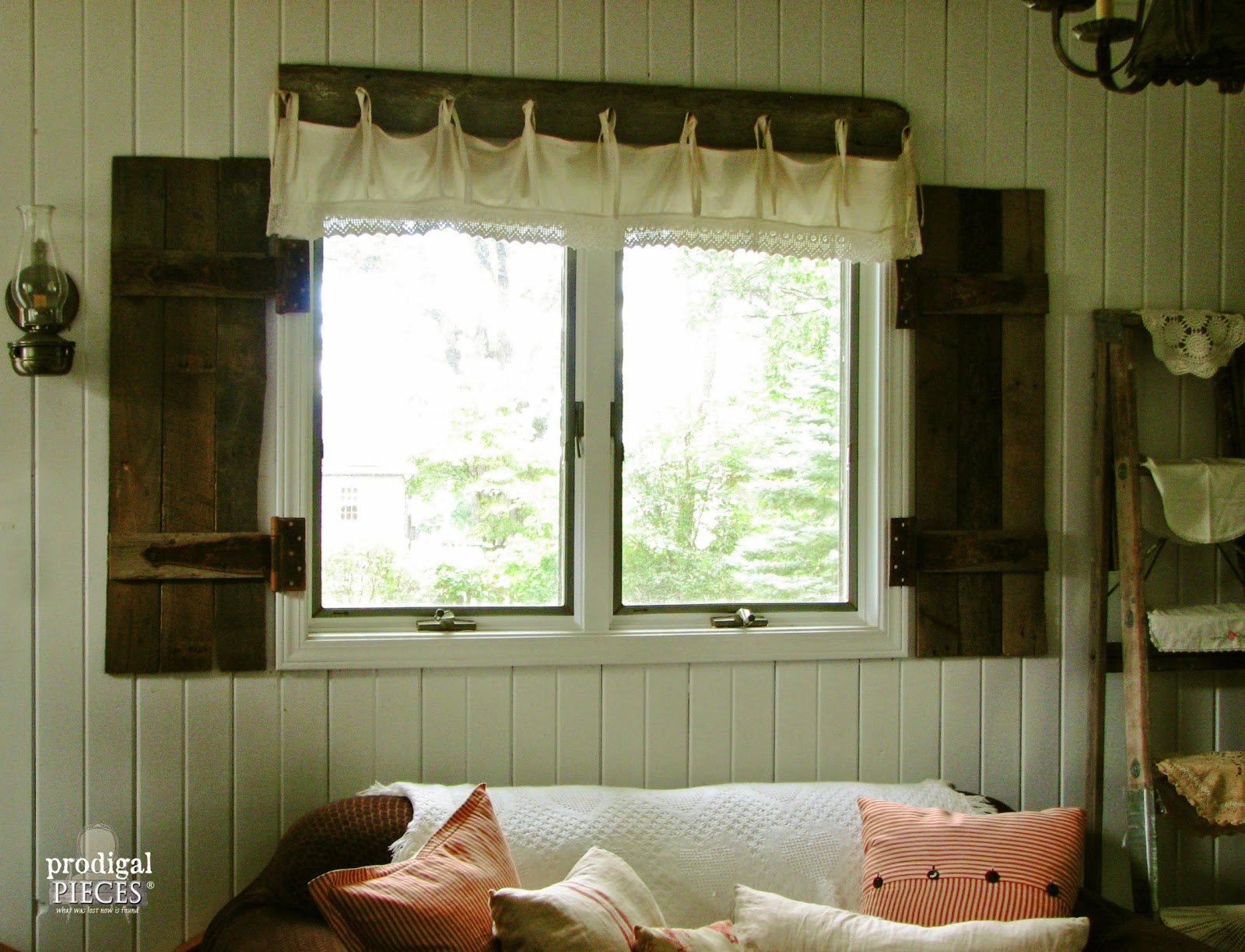 DIY: Barn Wood Shutters from Pallets - Prodigal Pieces