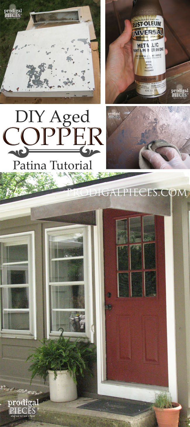 DIY Faux Copper Patina with Rust-Oleum Spray Paint by Prodigal PIeces www.prodigalpieces.com #prodigalpieces