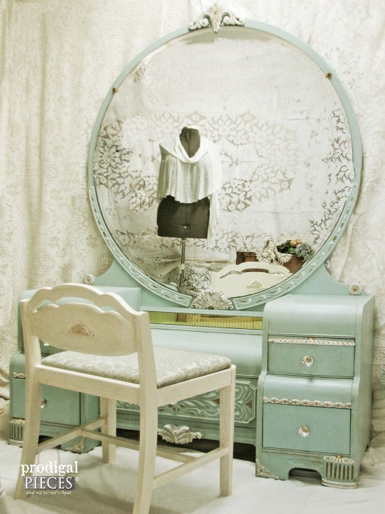 Art deco dressing table my painted lady prodigal pieces - Deco dressing ...