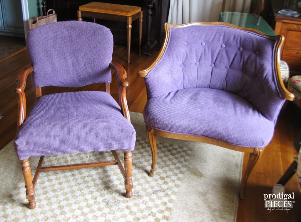 Outdated Upholstered Chair Gets Linen Rose French Makeover By Prodigal Pieces Prodigalpieces