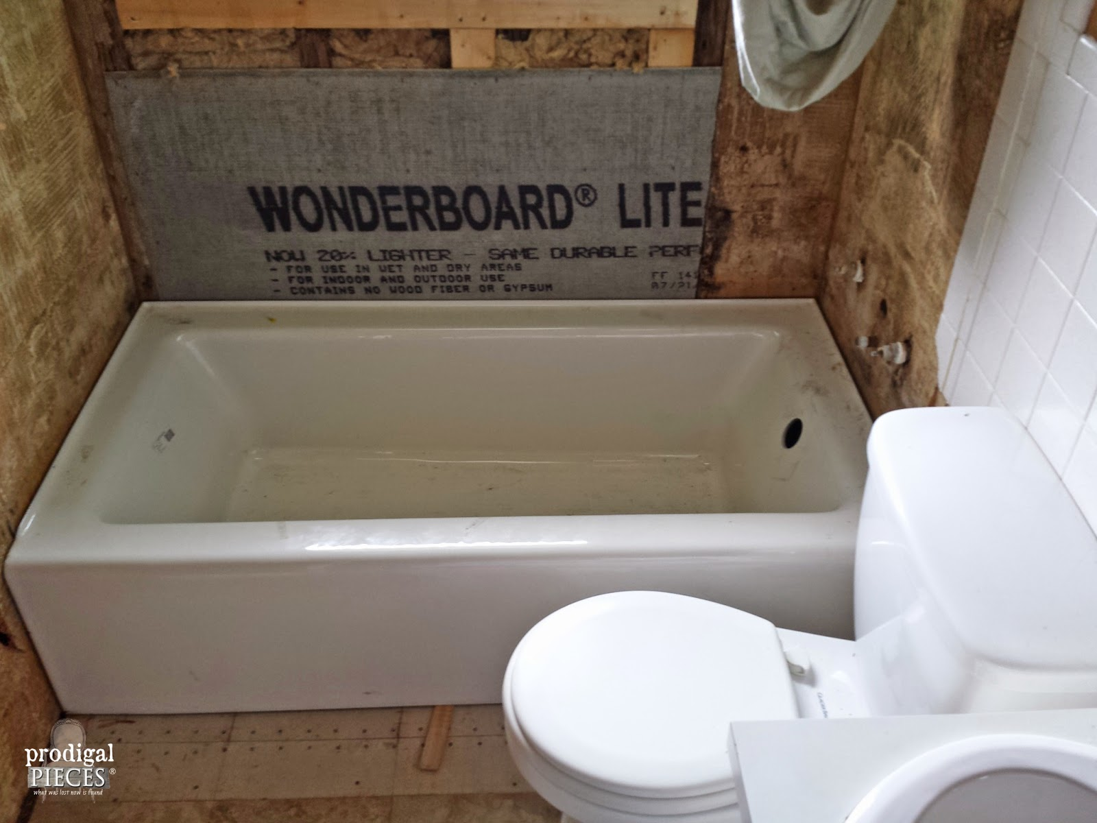 Bathroom Makeover DIY Farmhouse Style: Part 1 by Prodigal Pieces http://www.prodigalpieces.com