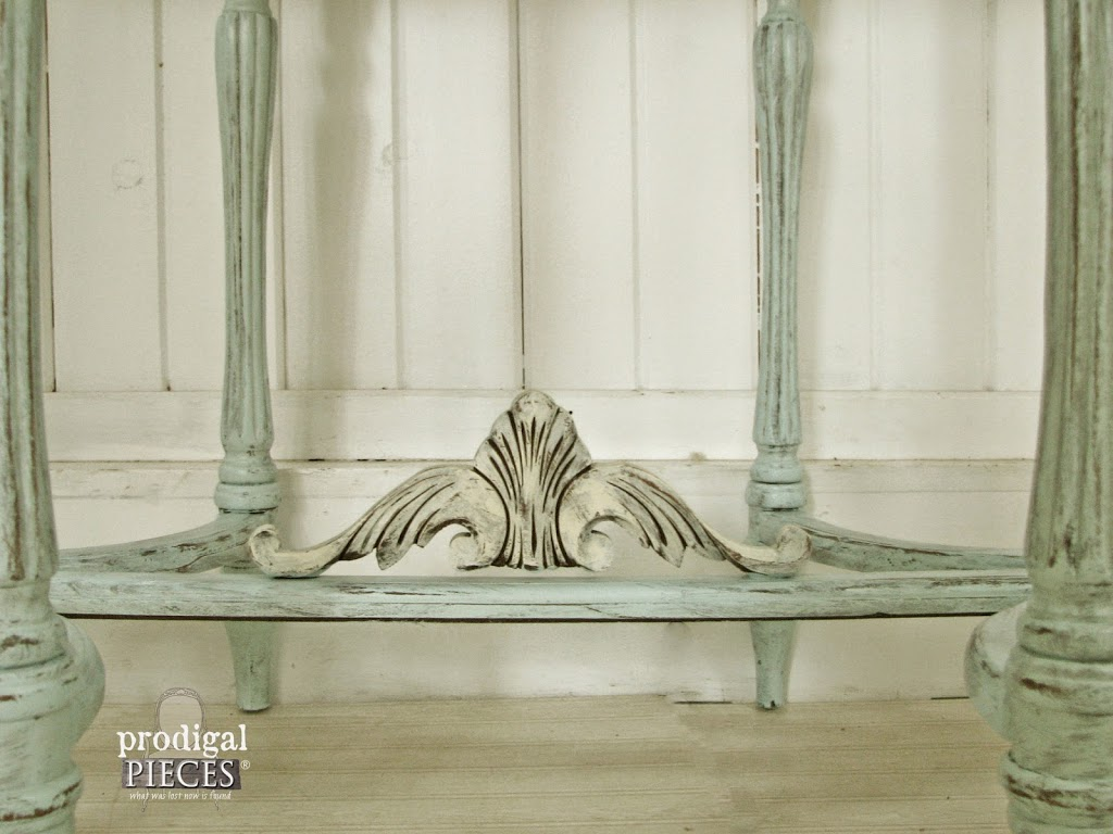 Ornate Legs on Side Table by Prodigal Pieces | prodigalpieces.com