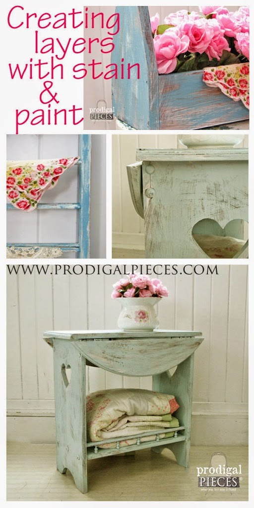 DIY: Creating Time-worn Effect with Layers of Paint by Prodigal Pieces | prodigalpieces.com