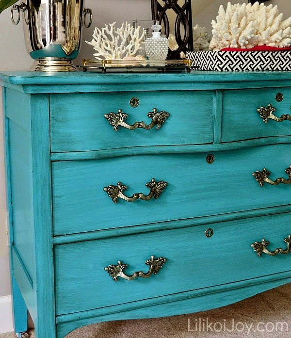 Antique Serpentine Dresser Gets Much Needed Makeover For Baby With  Inspiration By A Blue Beauty By