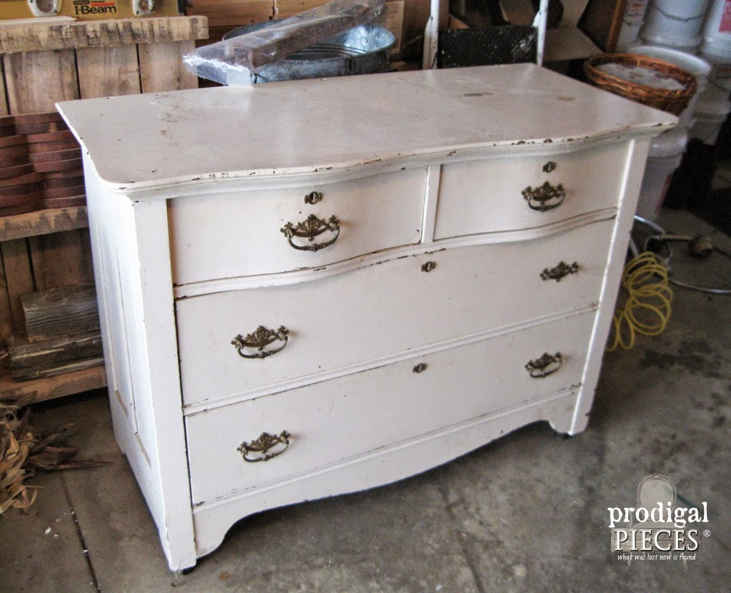 Antique Serpentine Dresser Gets Much Needed Makeover for Baby with  Inspiration by a Blue Beauty by - Furniture Makeover ~ Blue For Baby - Prodigal Pieces
