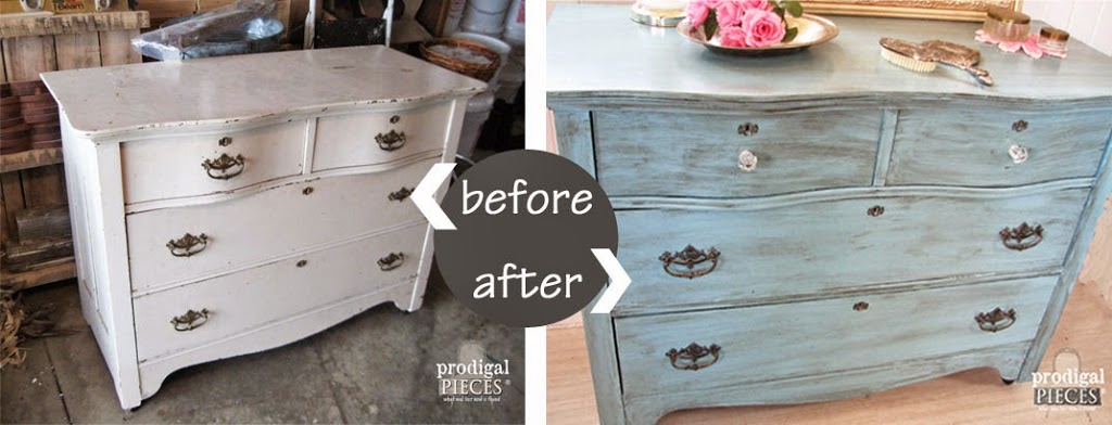 Charmant Antique Serpentine Dresser Gets Much Needed Makeover For Baby With  Inspiration By A Blue Beauty By