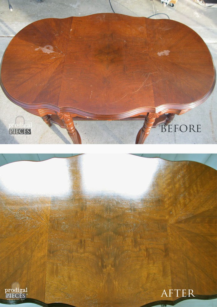 Damaged Table Before and After | Prodigal Pieces