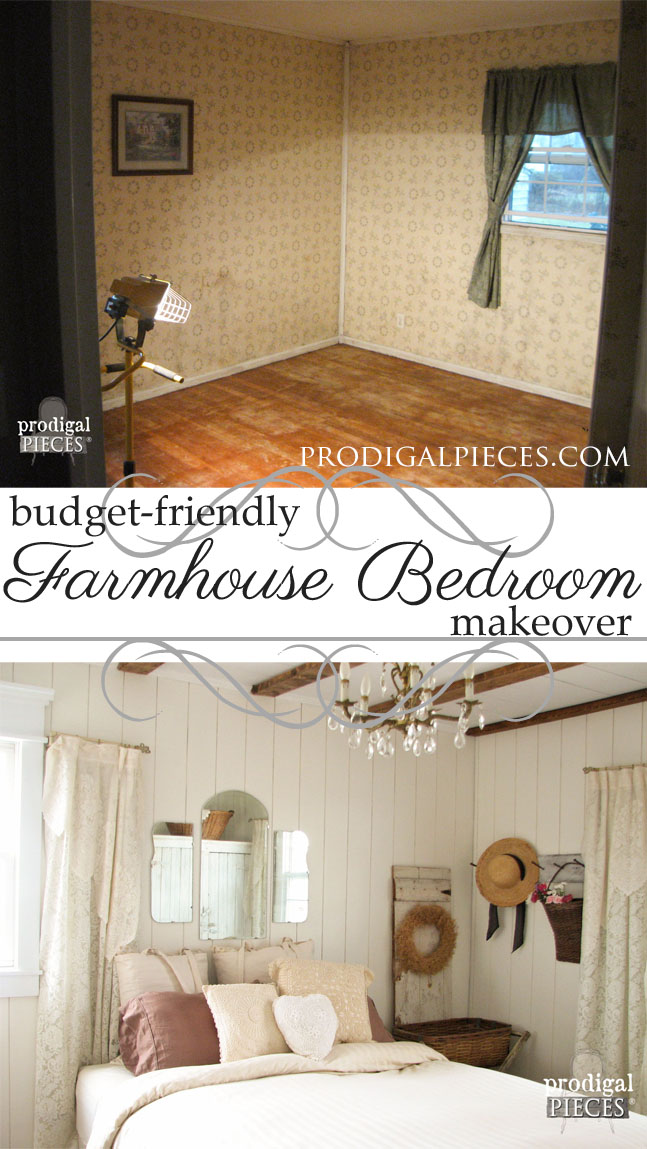 Budget-Friendly French Farmhouse Master Bedroom Makeover Final Reveal by Prodigal Pieces | www.prodigalpieces.com