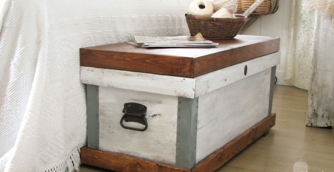 Pottery Barn Trunk Knock-Off {Themed Makeover}