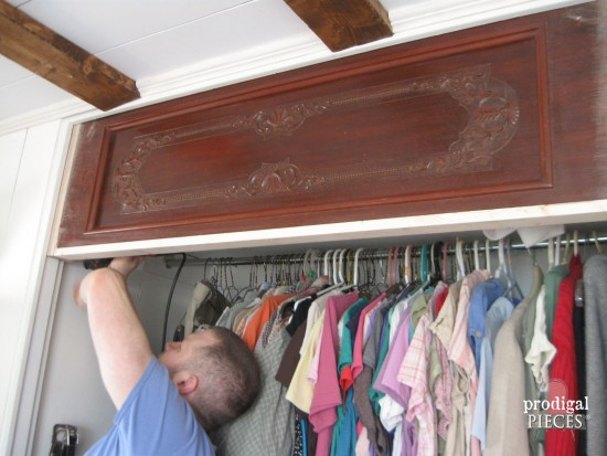 Farmhouse Style Bedroom Makeover with Trim and Bling :: Part 2 by Prodigal Pieces www.prodigalpieces.com #prodigalpieces