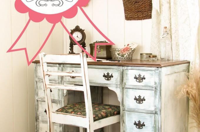 Antique Desk Blogiversary Winner Announced by Prodigal Pieces www.prodigalpieces.com #prodigalpieces