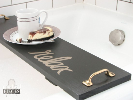 DIY : Bathtub Tray Tutorial - Prodigal Pieces