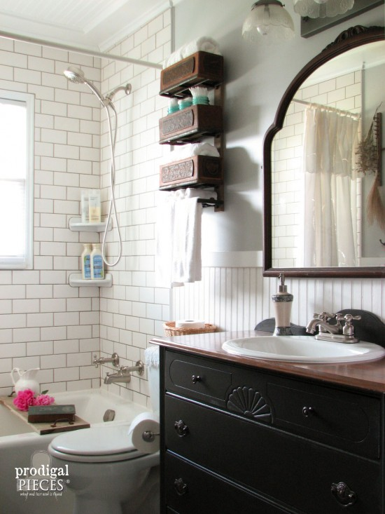 Budget Friendly Farmhouse Style Bathroom Makeover By Prodigal Pieces Www Prodigalpieces Com