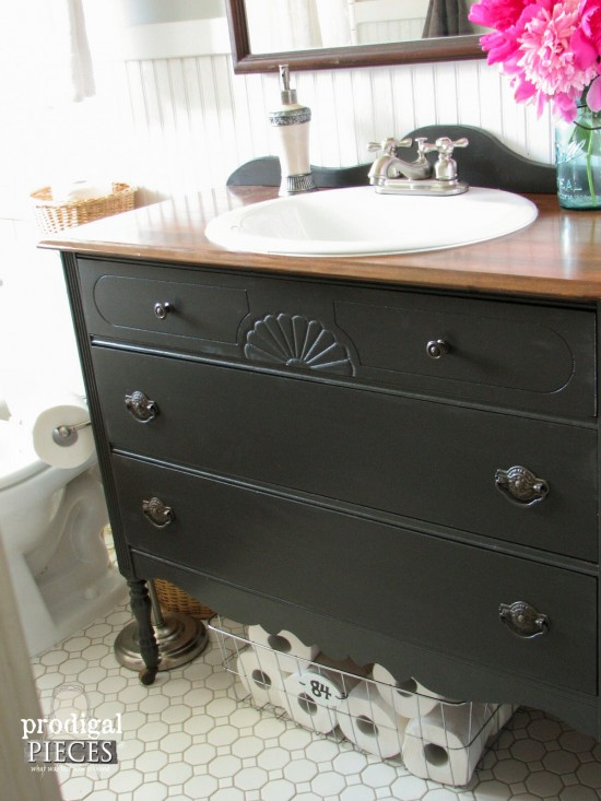 farmhouse bathroom remodel reveal - prodigal pieces