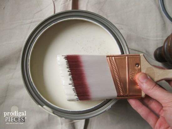 Antique White Paint for Vanity | Prodigal Pieces | www.prodigalpieces.com