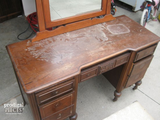 Damaged Antique Vanity | Prodigal Pieces | www.prodigalpieces.com