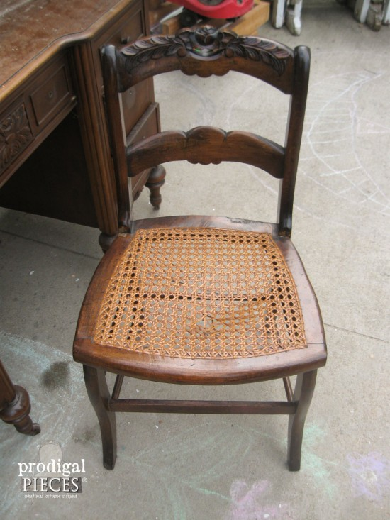 Thrifted Antique Caned Chair | Prodigal Pieces | www.prodigalpieces.com