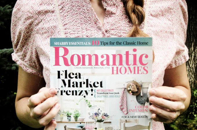My Flea Market Style interview with Romantic Homes Magazine by Prodigal Pieces www.prodigalpieces.com