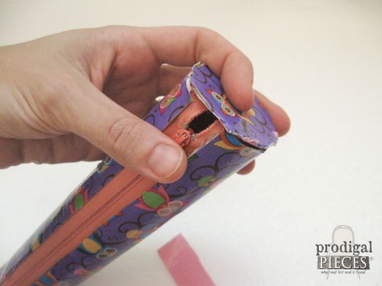 Make a duct tape zippered pouch from repurposed items. Perfect for back-to-school pencil case, baby, beach, snacks, and crafters too! by Prodigal Pieces www.prodigalpieces.com #prodigalpieces