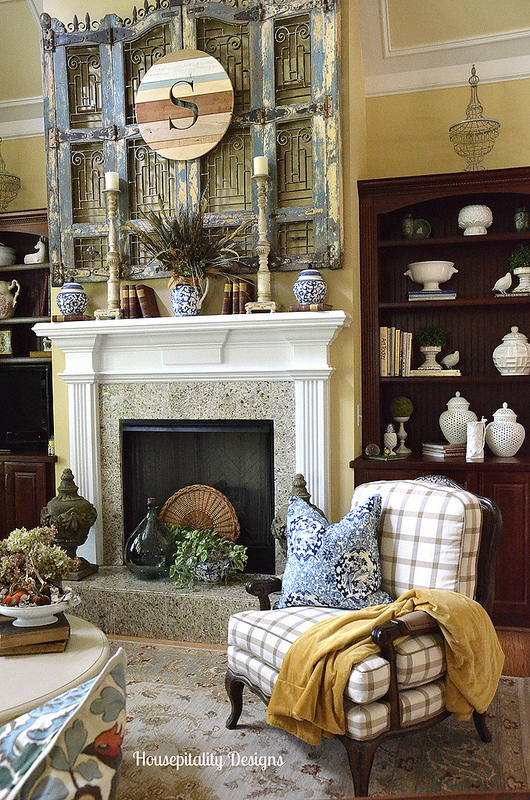 The Fall Ideas Tour Day One - Mantel Inspiration by Housepitality Designs via Prodigal Pieces.www.prodigalpieces.com #prodigalpieces