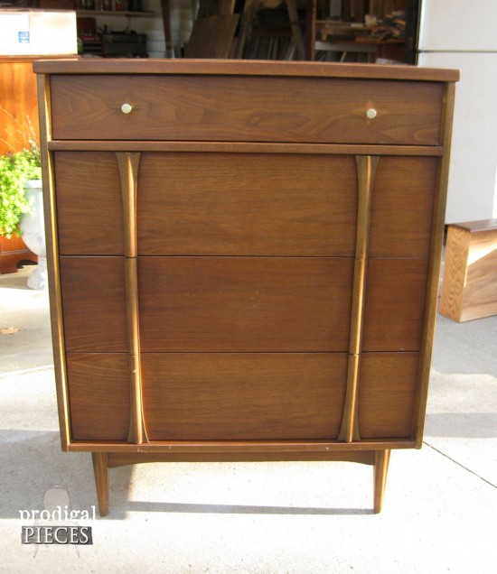Sometimes a vintage Mid Century Modern piece of furniture can use an update. Here is a fantastic way to bring those tired pieces into modern day design by Prodigal Pieces www.prodigalpieces.com #prodigalpieces