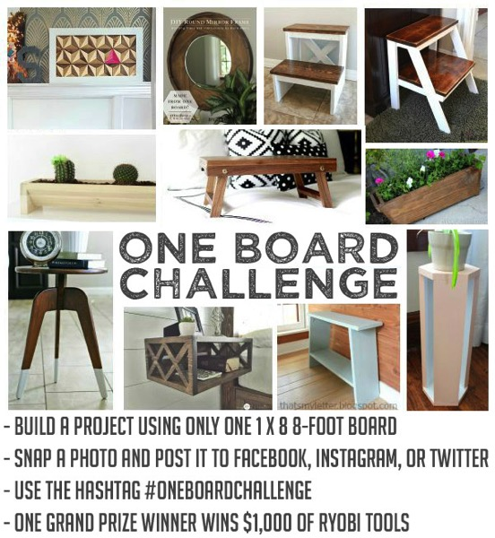 Ryobi One Board Challange for $1000 in tools!