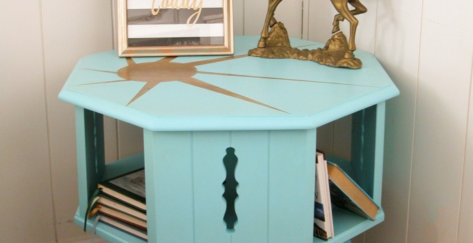 Mid-Century Modern Sunburst Table