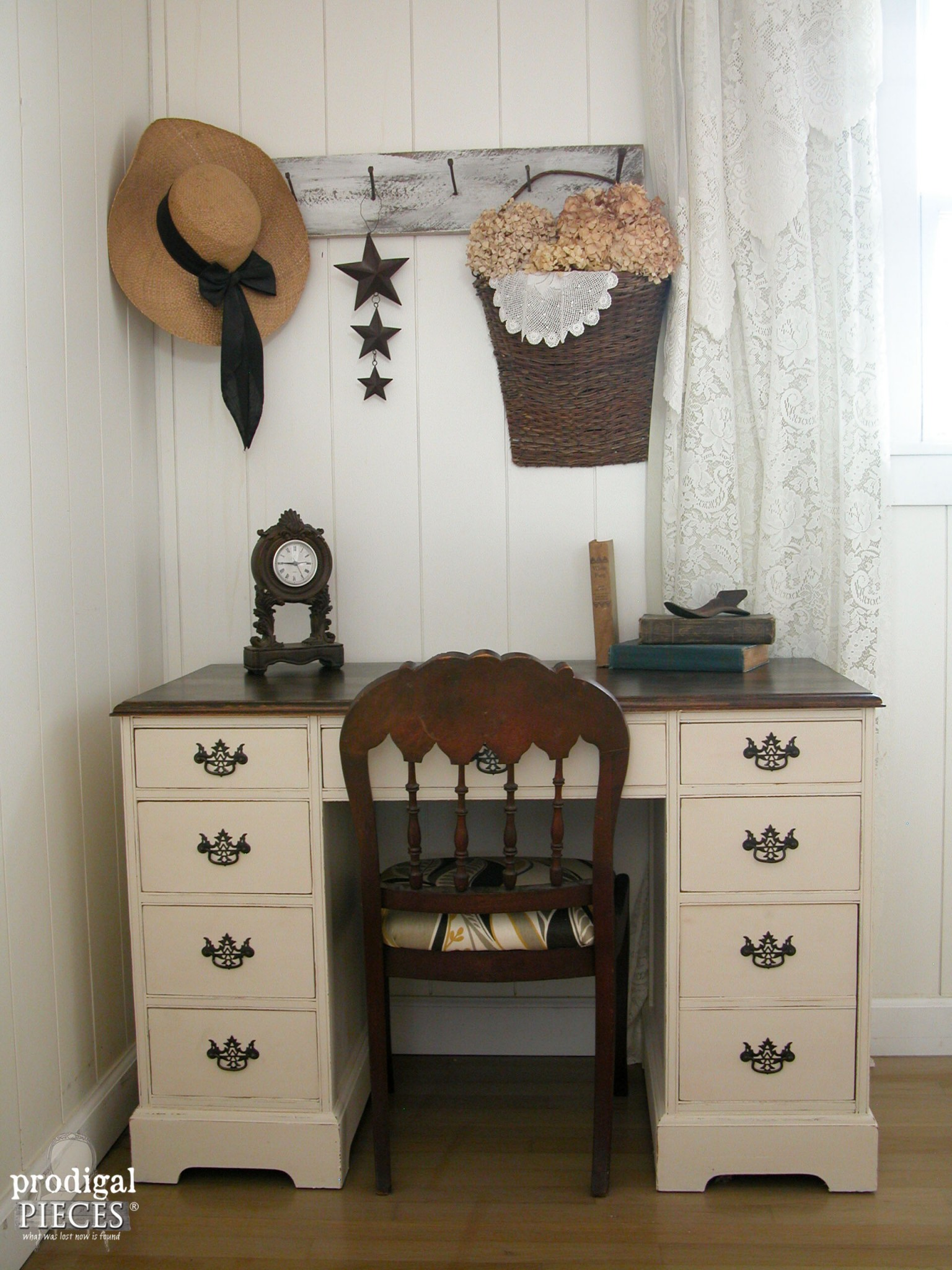vintage desk makeover by teen boy prodigal pieces