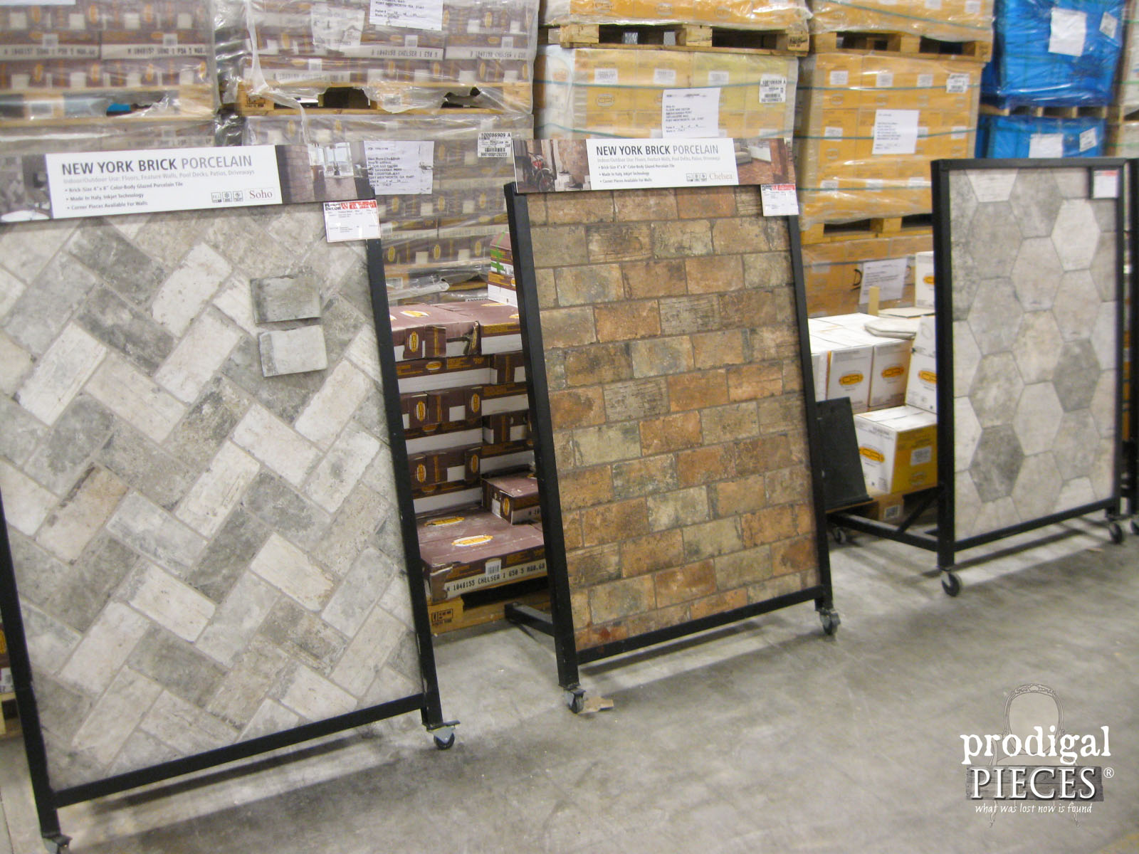 Choosing kitchen flooring our remodel begins prodigal pieces brick look alike porcelain tile by floor decor prodigal pieces prodigalpieces dailygadgetfo Choice Image