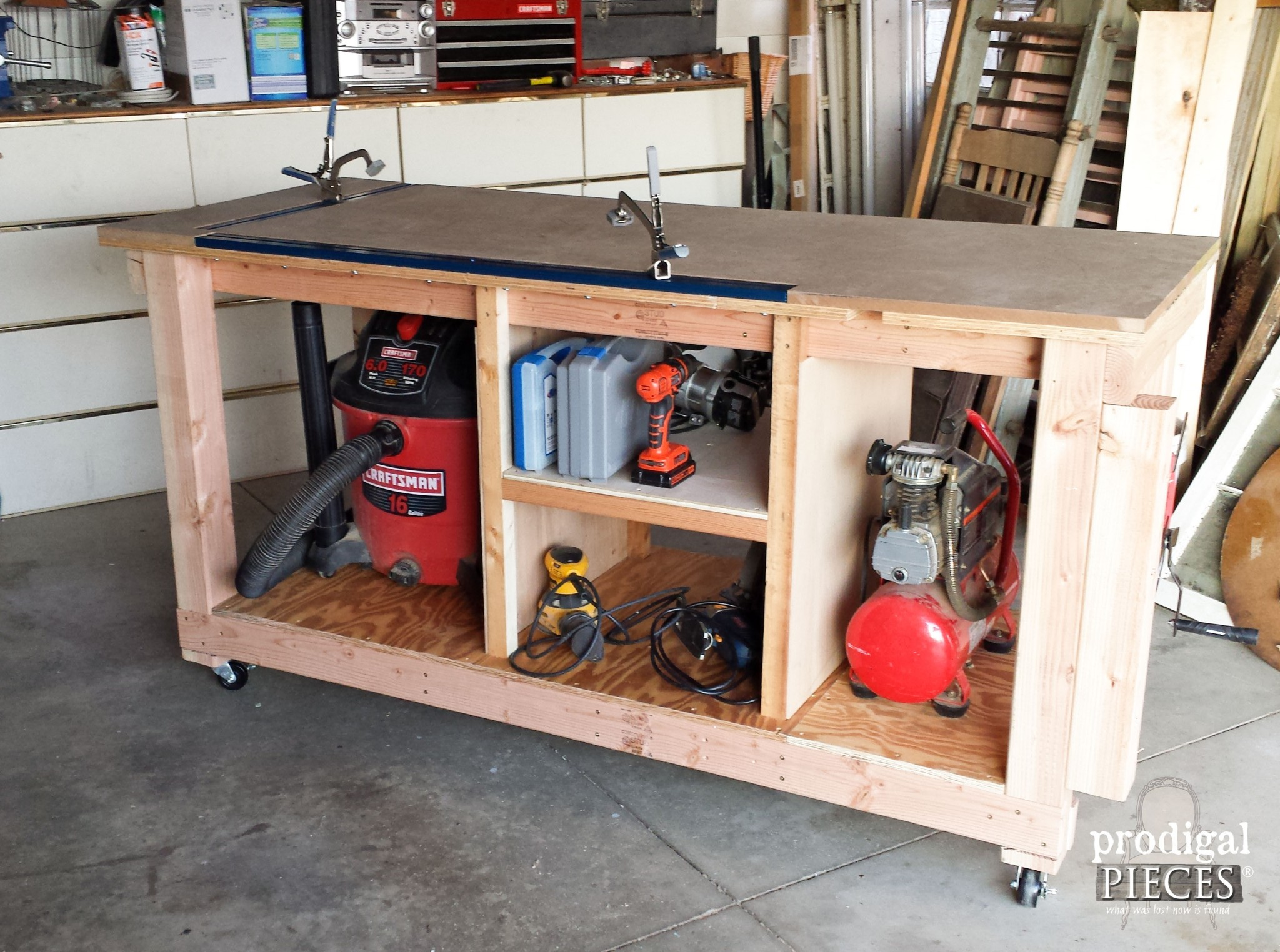 Build A DIY Workbench Assembly Table In A Weekend By Prodigal Pieces |  Www.prodigalpieces