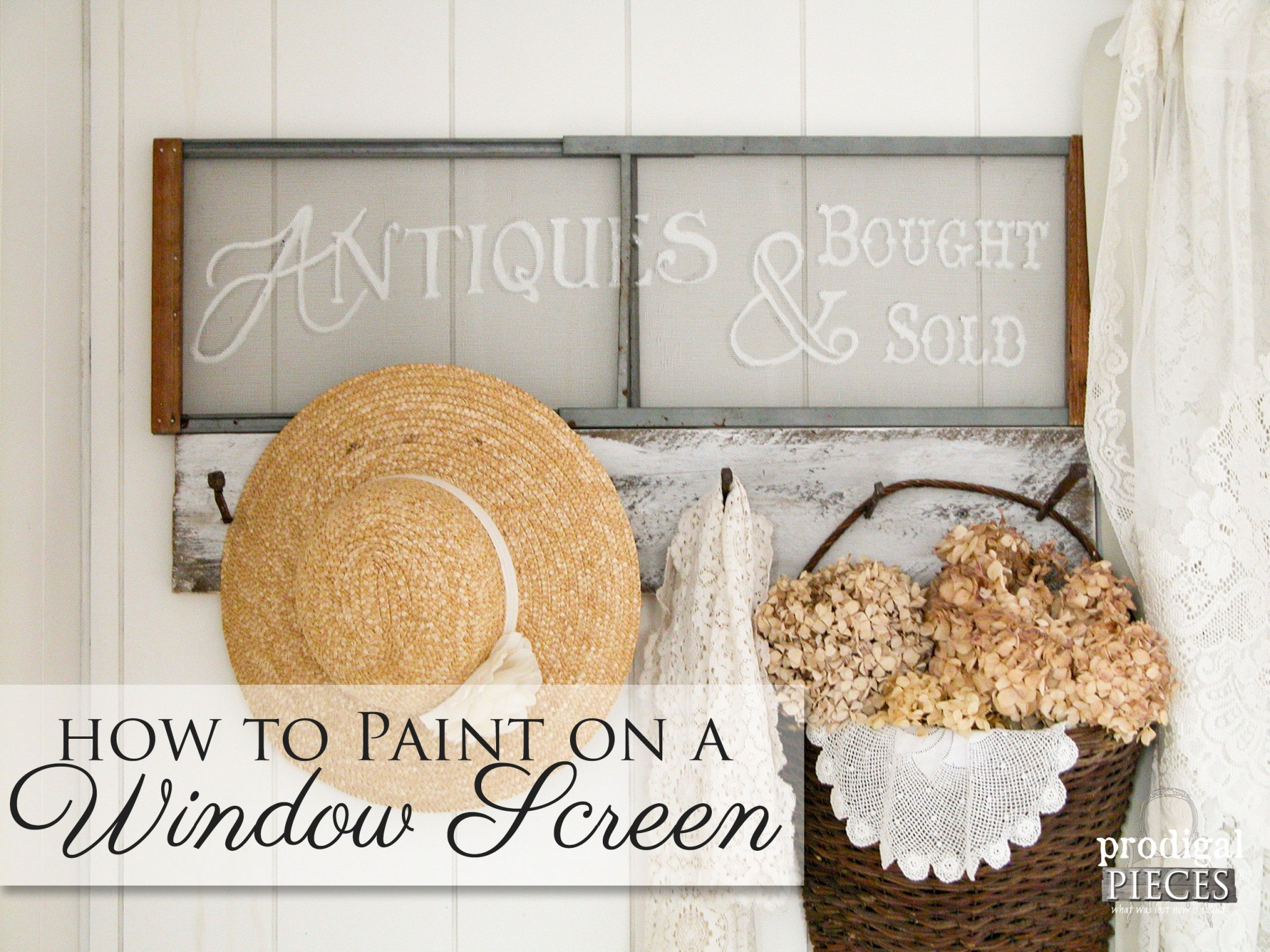 How to Paint on a Window Screen | Prodigal Pieces | www.prodigalpieces.com