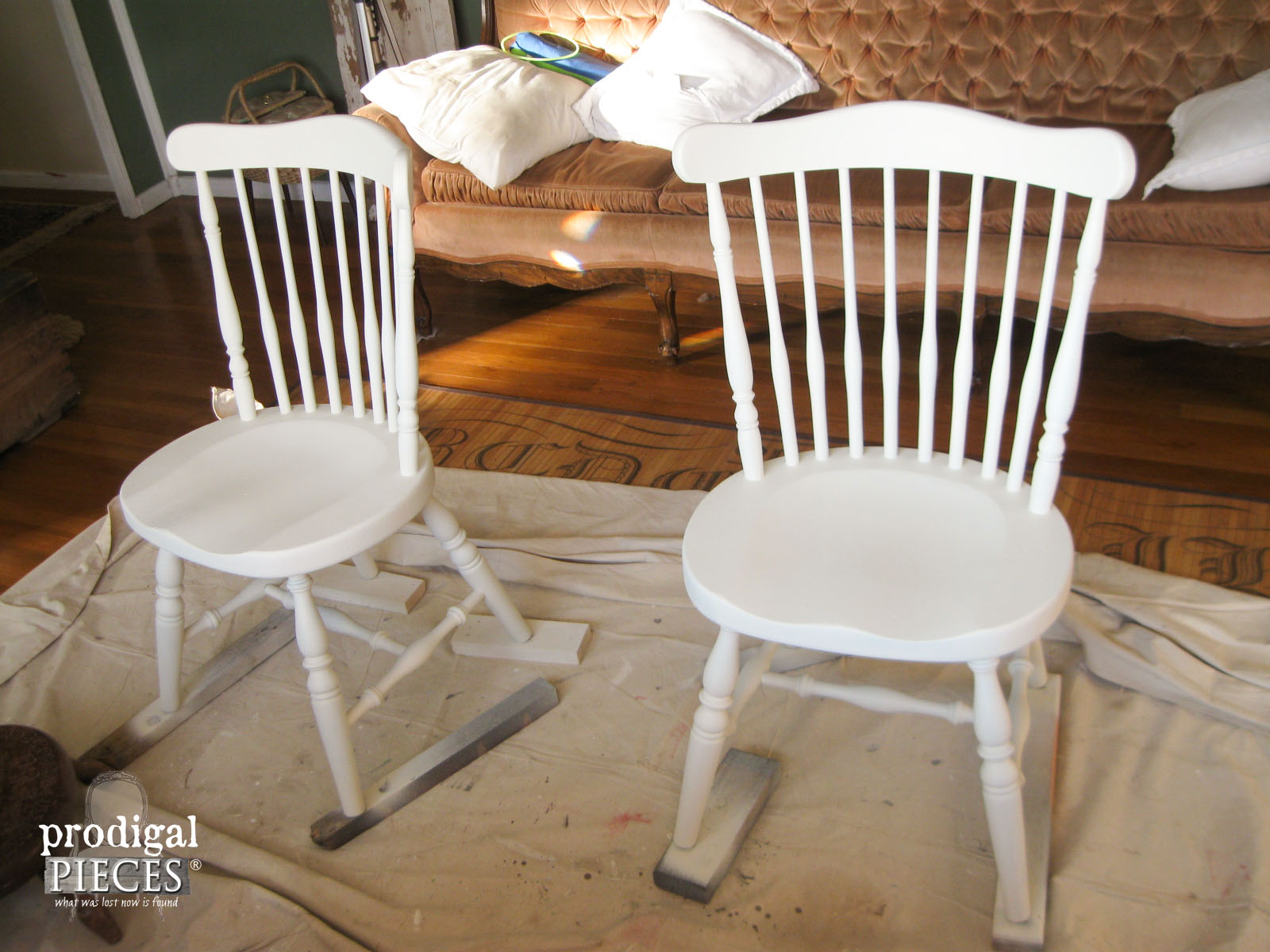 Vintage Chairs Painted White | Prodigal Pieces | www.prodigalpieces.com