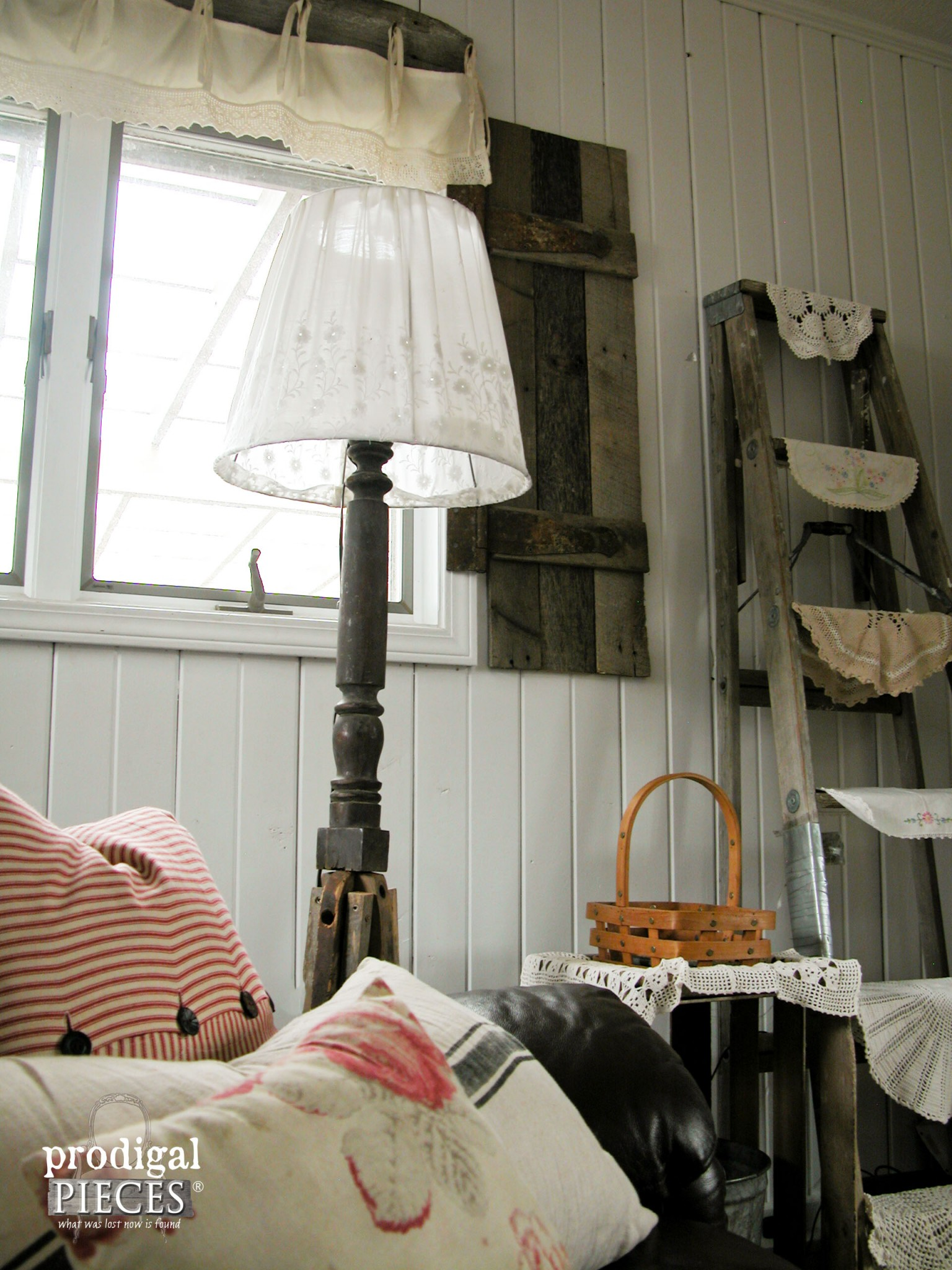 Rustic Floor Lamp from Repurposed Antiques | Prodigal Pieces | www.prodigalpieces.com