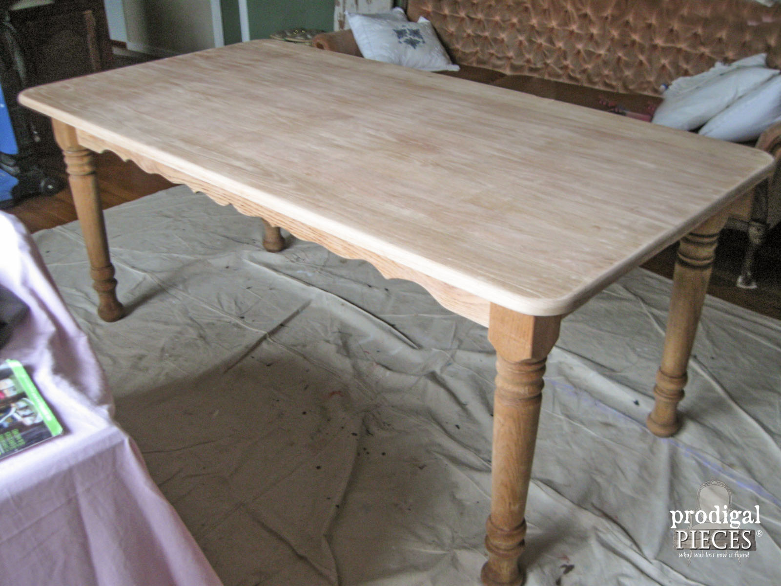 Amazing Side View Of Farmhouse Table For Whitewash | Prodigal Pieces |  Www.prodigalpieces.com