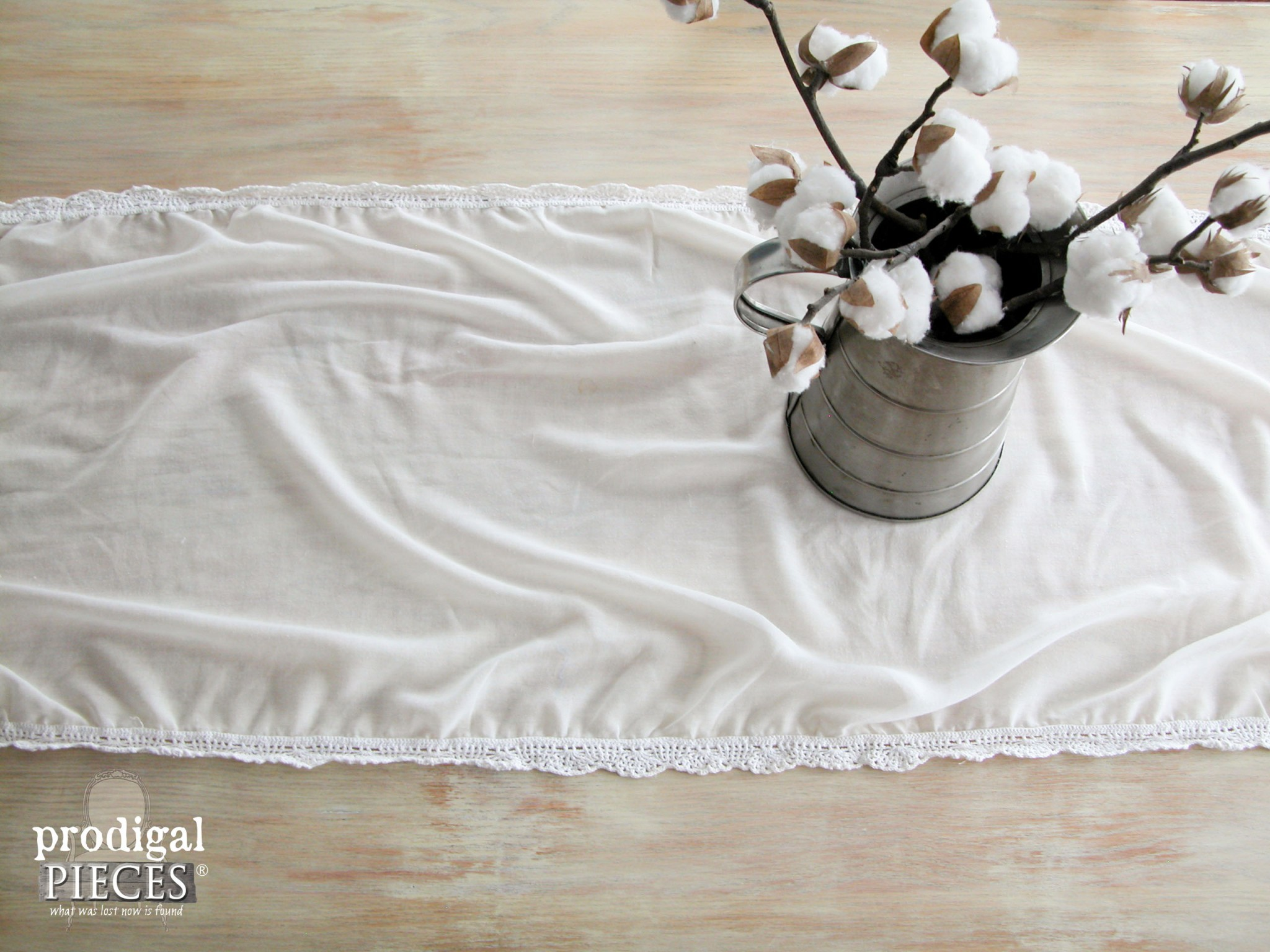Tablecloth On Table Top
