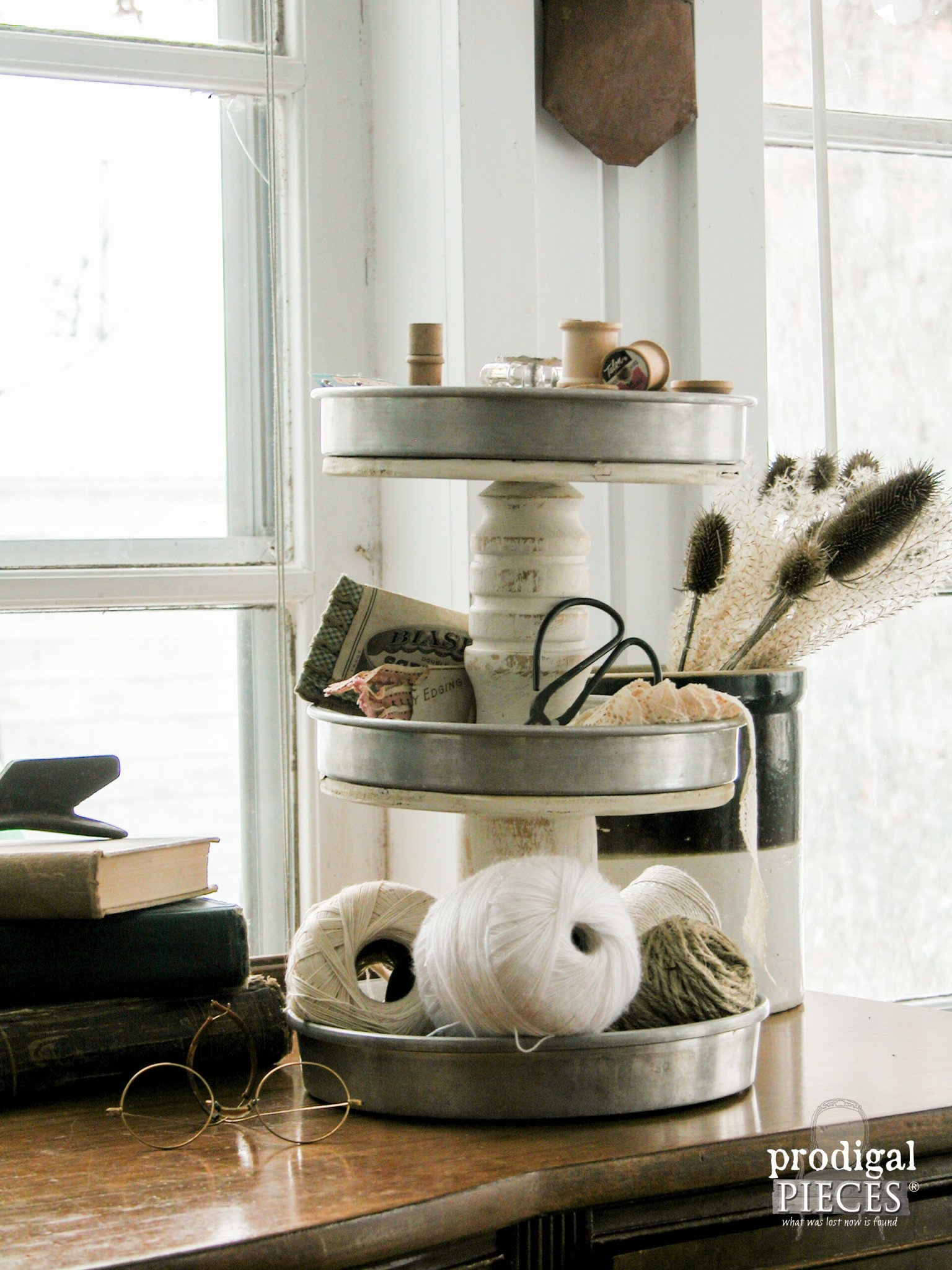 Shabby Chic Tiered Stand | Prodigal Pieces | www.prodigalpieces.com