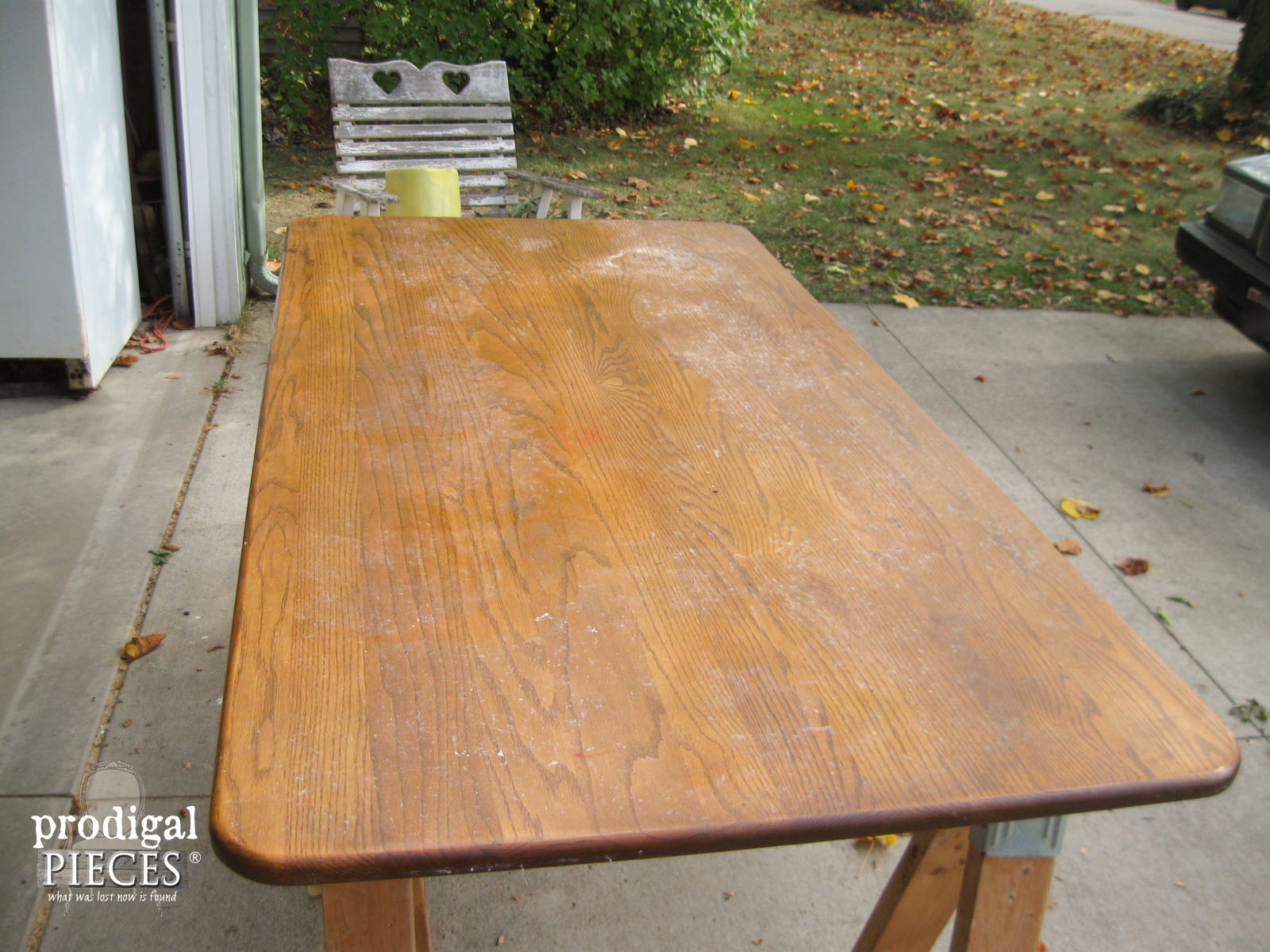 Farmhouse Table Top Being Whitewashed Prodigal Pieces Prodigalpieces Com