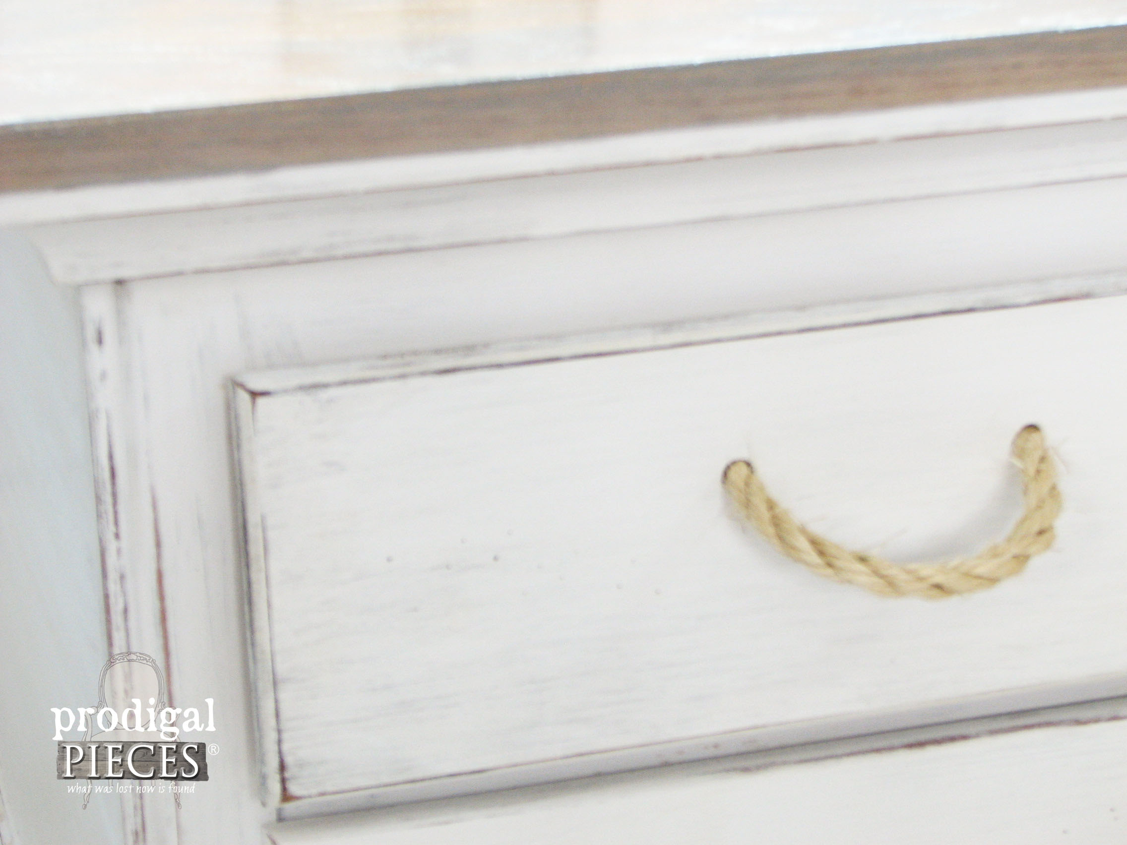Rope Pulls for Beach Inspired Coffee Table by Prodigal Pieces | www.prodigalpieces.com