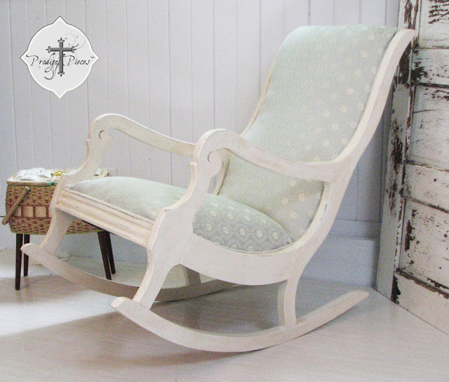 How to Reupholster & Paint a Rocking Chair by Prodigal Pieces www.prodigalpieces.com #prodigalpieces