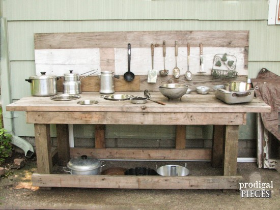 Build a Mud Bar Play Station out of Reclaimed Wood by Prodigal Pieces www.prodigalpieces.com #prodigalpieces