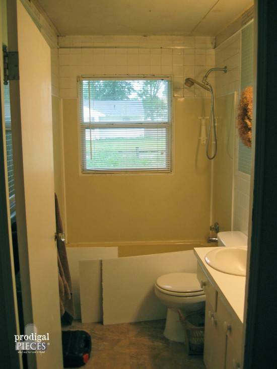 Farmhouse Bathroom Remodel Reveal Prodigal Pieces - Gutting a bathroom