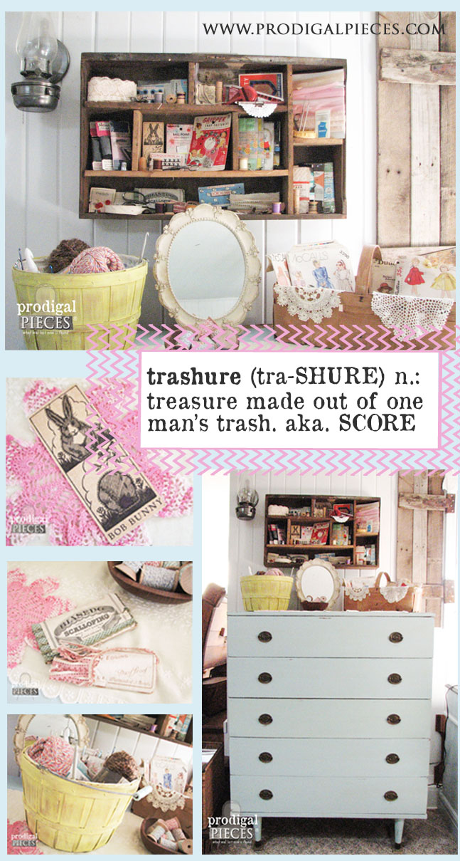 Trashure: Making Treasure Out of Trash by Prodigal Pieces www.prodiaglpieces.com #prodigalpieces