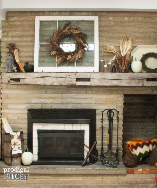 Want to add a floating mantel, but don't know how? It's pretty simple and we've got the DIY for you! by Prodigal Pieces www.prodigalpieces.com #prodigalpieces
