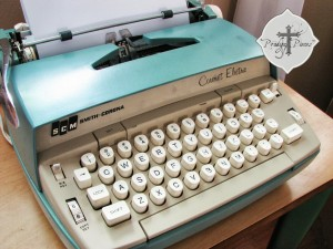 vintage Smith Corona electric typewriter found junking via Prodigal Pieces