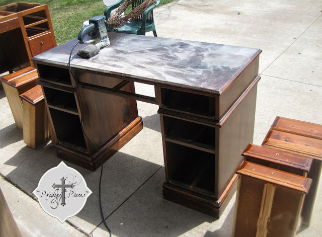 painted desk found junking via Prodigal Pieces