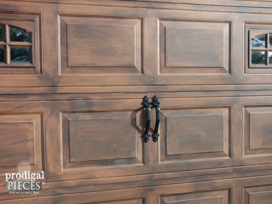 Faux wood garage door tutorial prodigal pieces for Faux wood doors