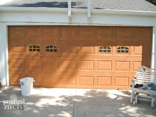DIY Faux Wood Garage Door Tutorial by Prodigal Pieces www.prodigalpieces.com