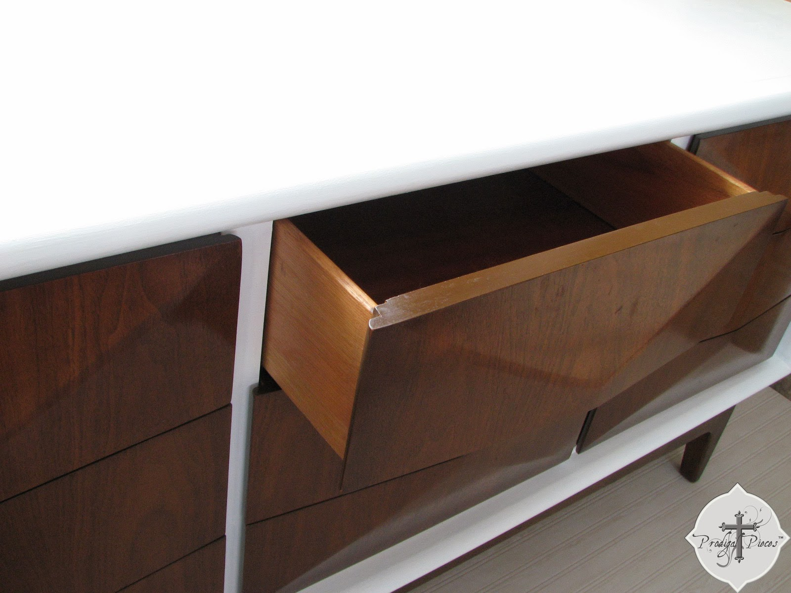 Vintage Mid-Century Modern Console Dresser by Prodigal Pieces