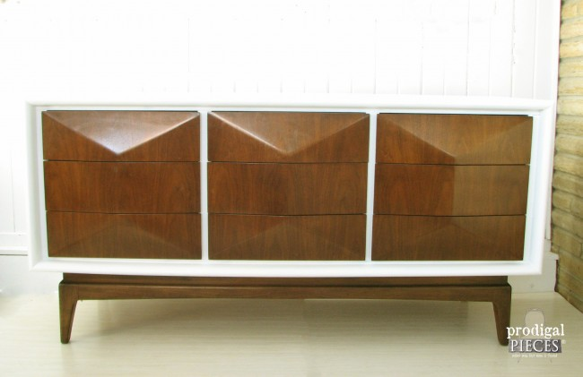 Curbside Mid Century Modern United Furniture Credenza Gets Makeover by Prodigal Pieces www.prodigalpieces.com #prodigalpieces